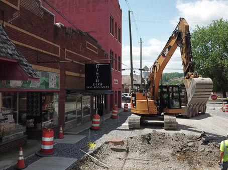 June 1, 2020: Utility work on Bruce Street
