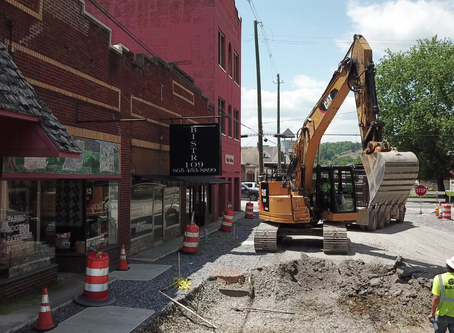 June 1, 2020: Utility work on Bruce Street