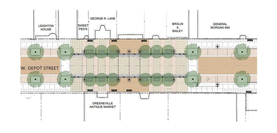 Greeneville Streetscape - Tabletop Plans