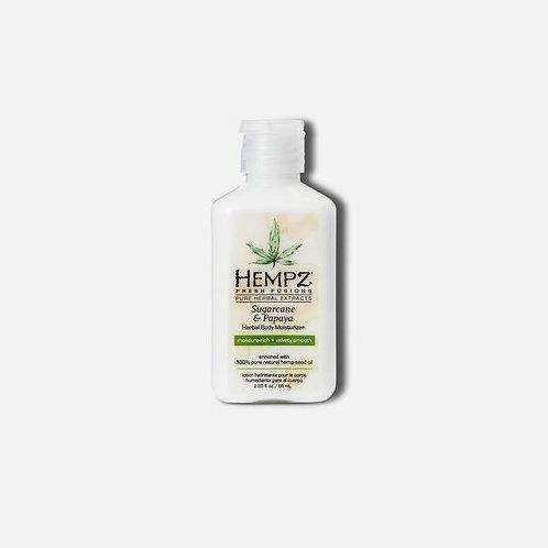 Hempz Sugar Cane & Papaya Body Moisturizer | 2.25 oz Travel