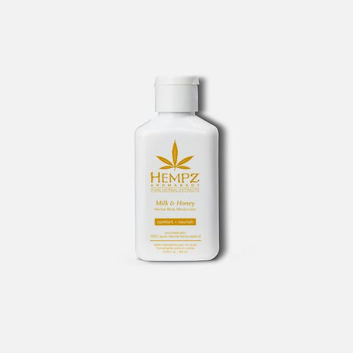 Hempz Milk & Honey Body Moisturizer | 2.25 oz Travel