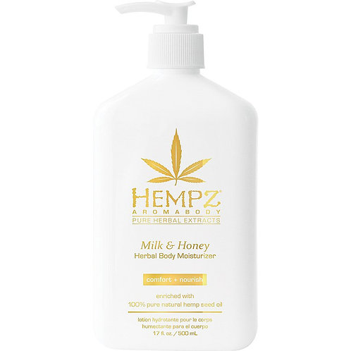 Hempz Milk & Honey Herbal Body Moisturizer | 17 fl oz