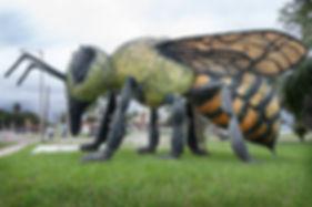 The giant killer bee statue of Hidalgo Texas