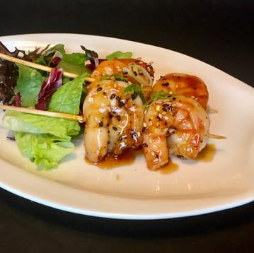 Grilled Tiger Prawns Teriyaki