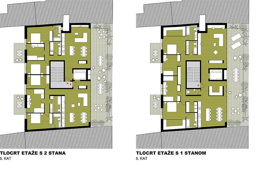 Penthouse floor plans
