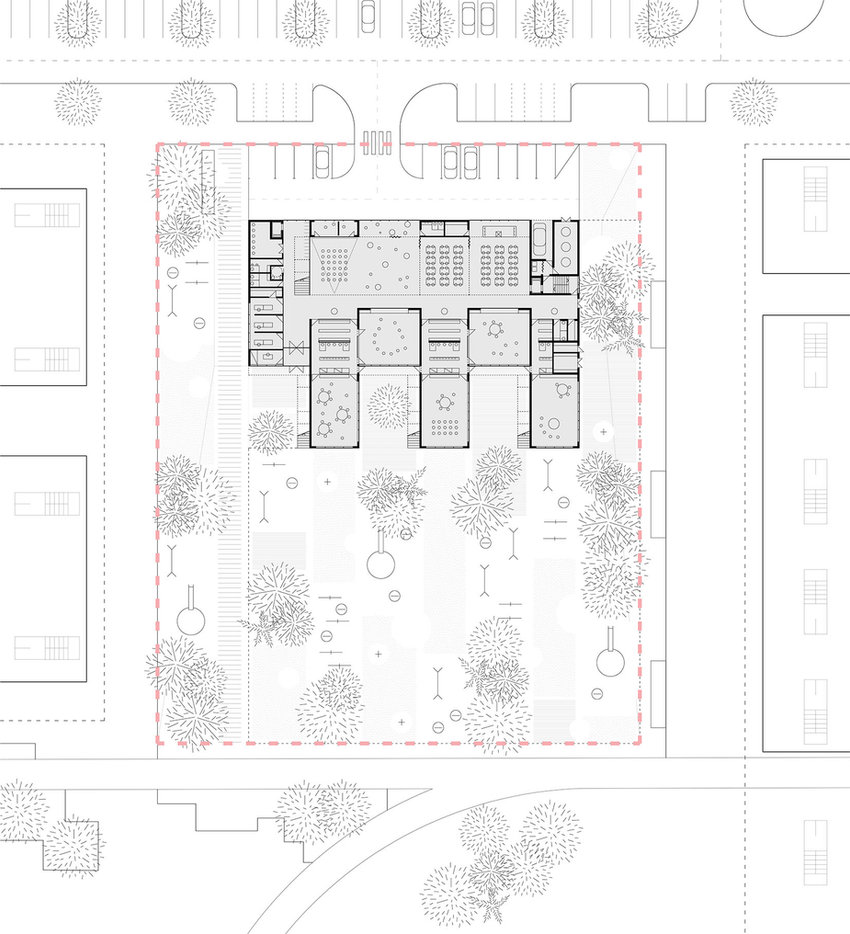 Kindergarten floor plan drawing