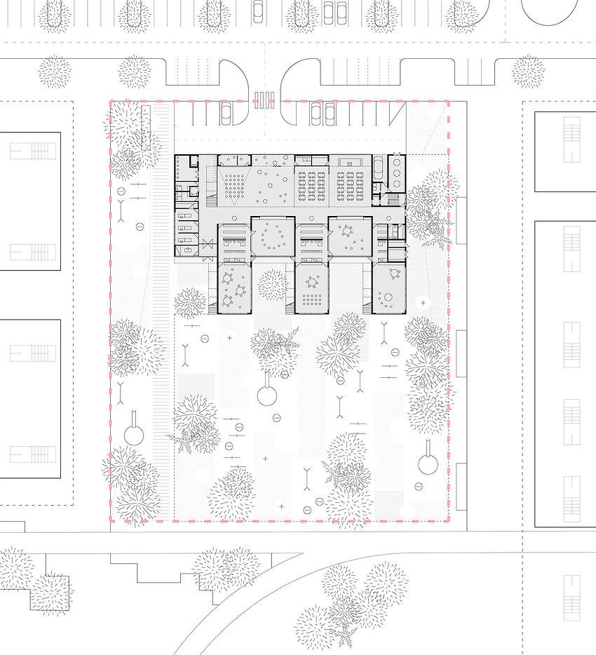Kindergarten floor plan drawing