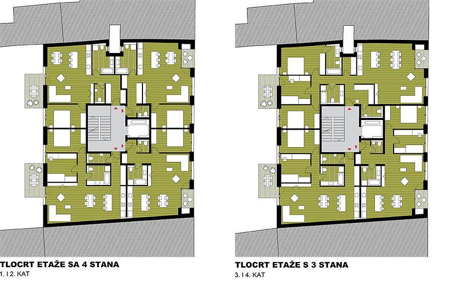Apartment floor plans