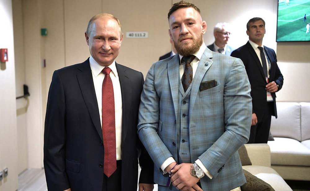 Russian President Vladimir Putin with UFC Fighter Conor McGregor– Wikimedia Commons
