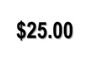 $25.00