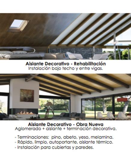 """""""Aislante termico """", """"cubiertas en madera casa de campo"""""""