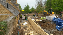 Rear garden construction