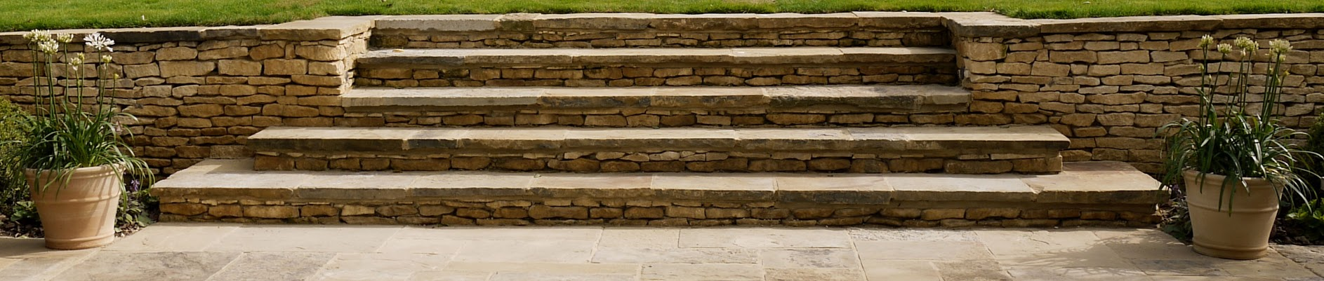Cotswold and York stone steps