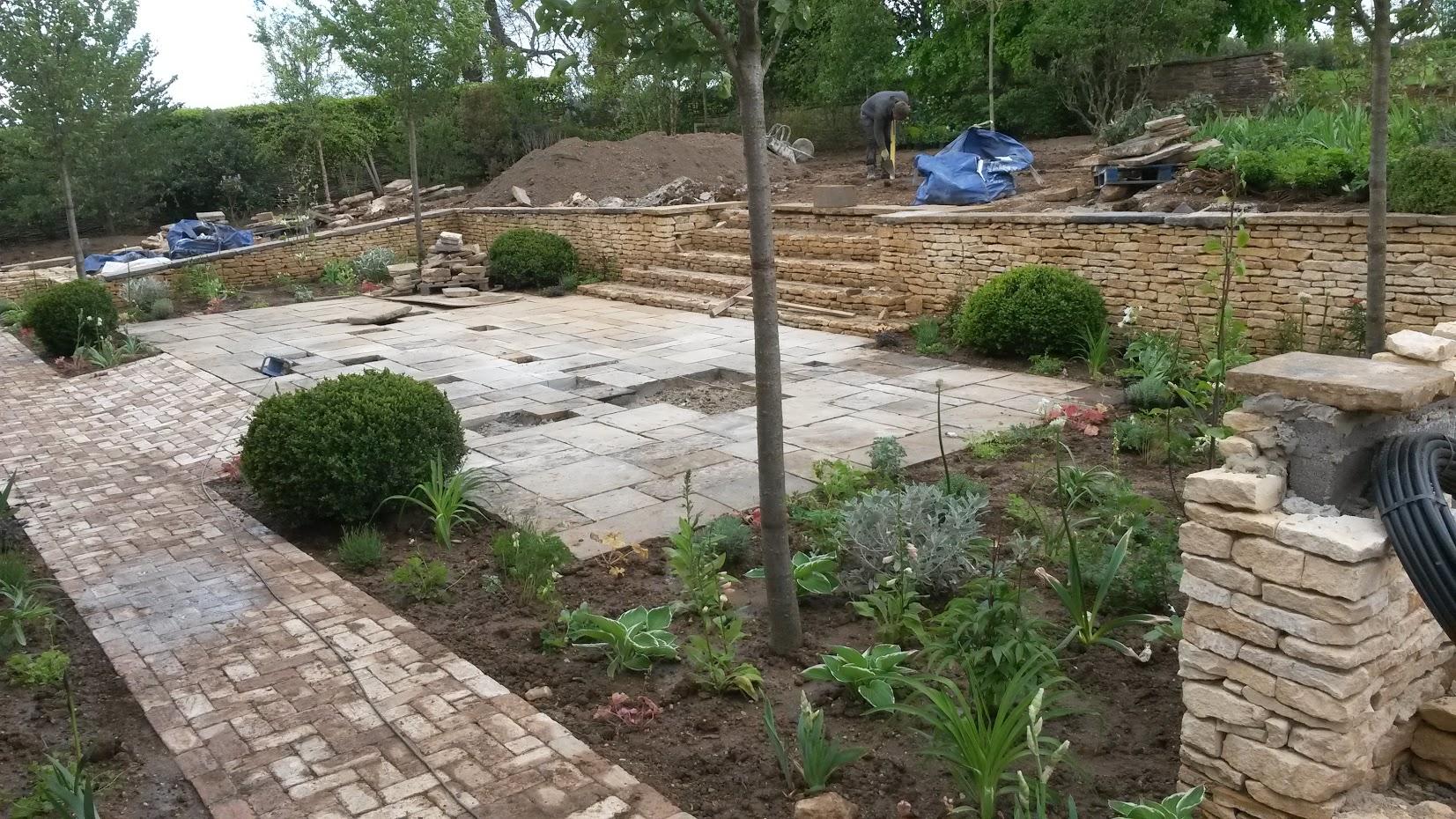 Planting commences lower garden
