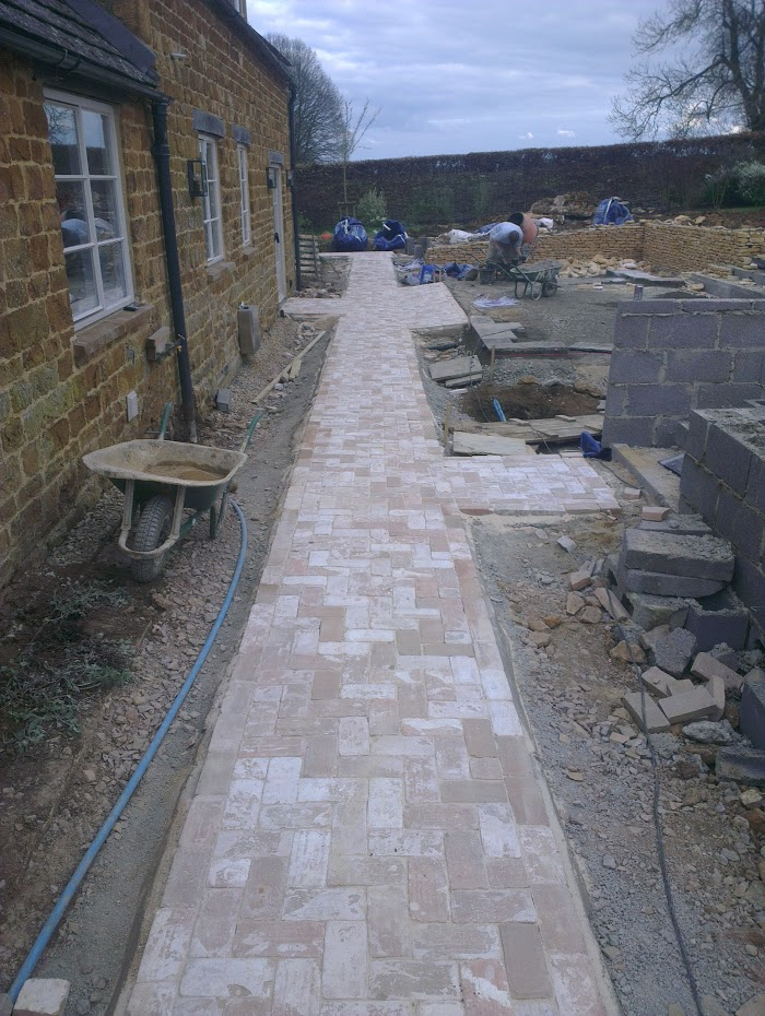 Brick path completed