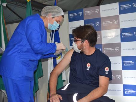 Vacinação em Fortaleza(Profissionais da Saúde D1+D2 e Idosos) - 12/04/2021
