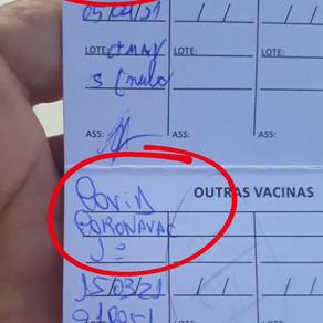 Não misture as vacinas!
