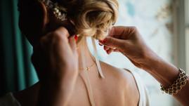 Brautfrisur mit Haarreif