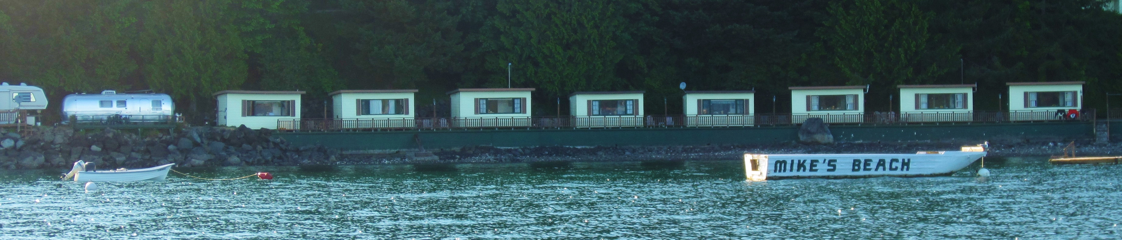 cabins from water