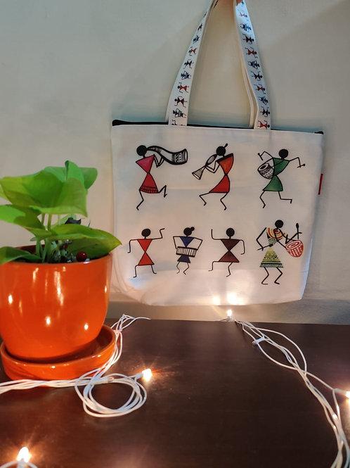 Hand Bag - Warli Prints