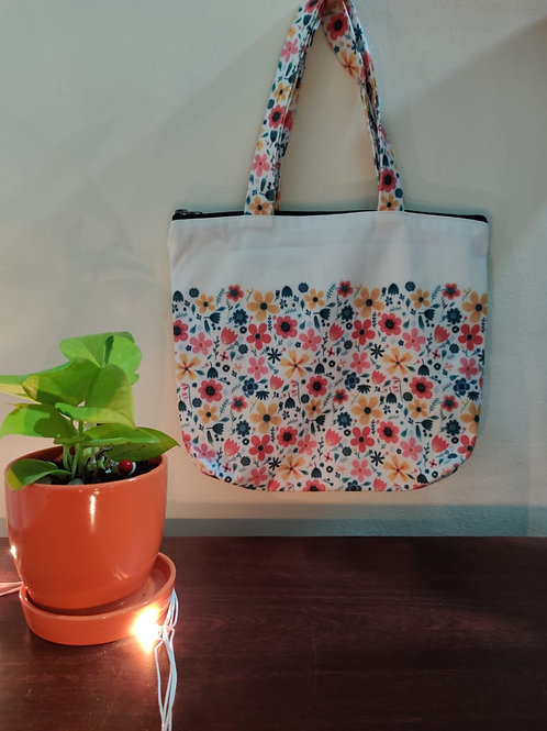 Hand Bag - Flower Pattern