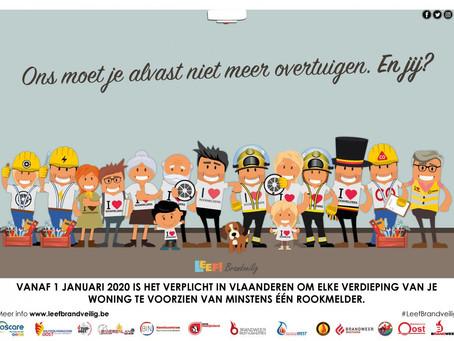 Rookmelders verplicht vanaf 1 januari 2020