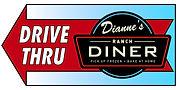 dianne's diner sign arrow left