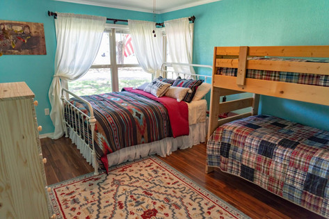 Bunk beds and full size bed