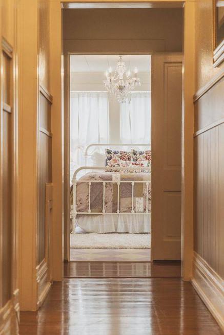 hallway - Vintage Rose Cottage - Event House - Stephenville, Texas