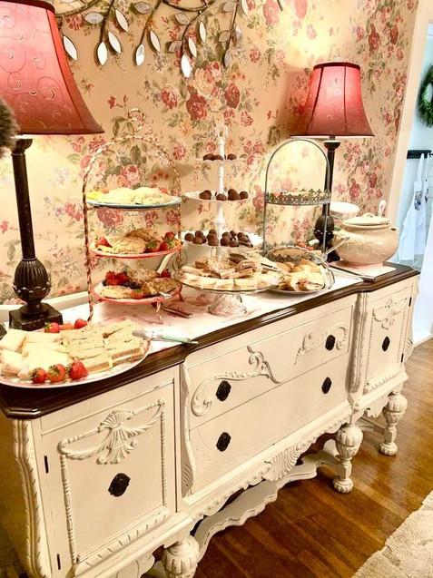 hight tea at Vintage Rose Cottage - Event House - Stephenville, Texas