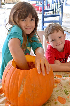 carving pumpkins GREAT AMERICAN LONE STAR RANCH