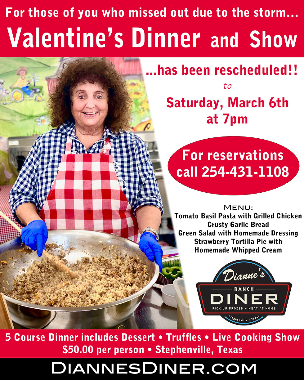 TAKE 2 - Valentines dinner and show post