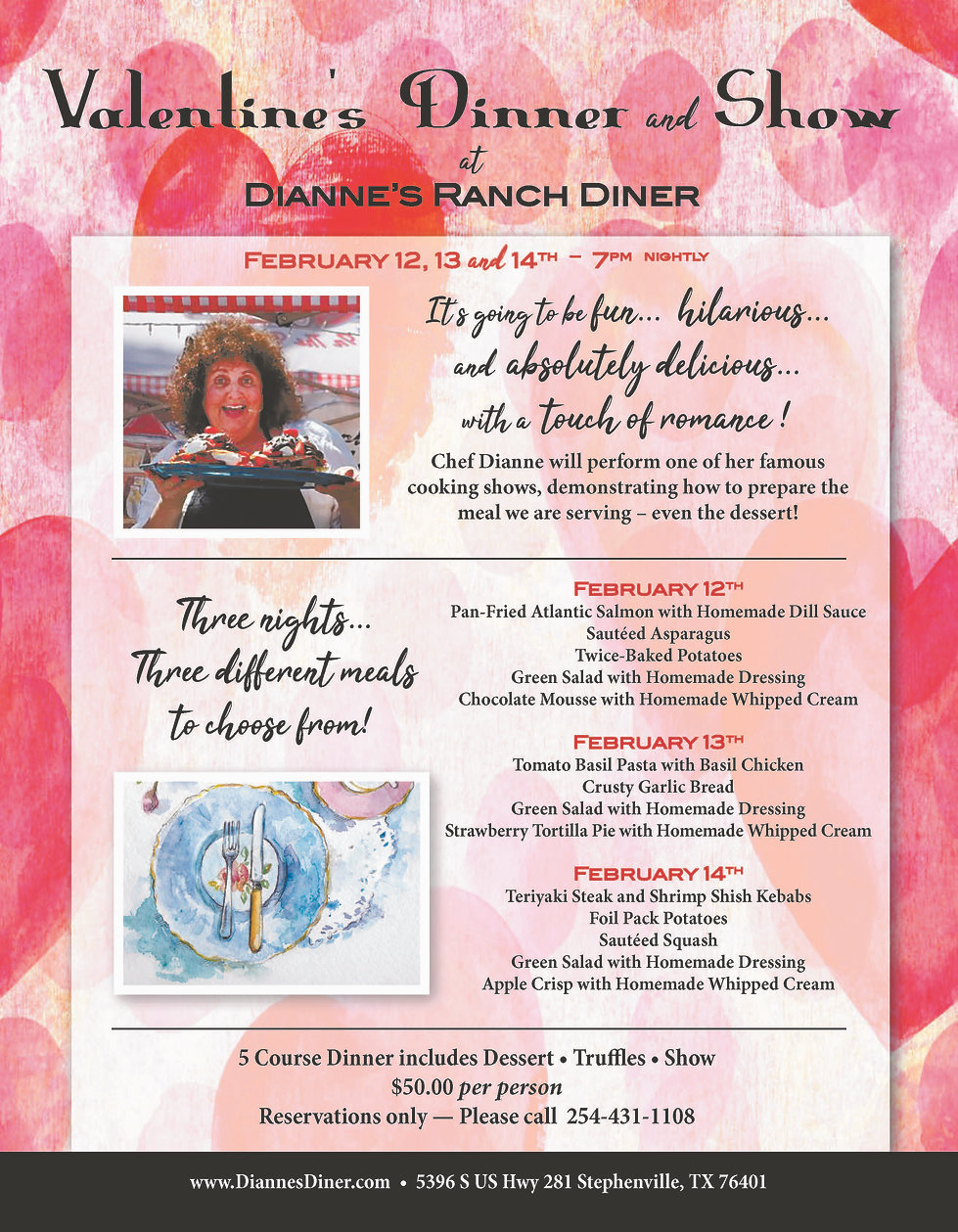 Valentine's Dinner and Show