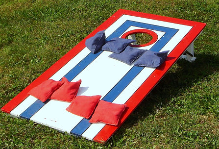 red white blue corn hole