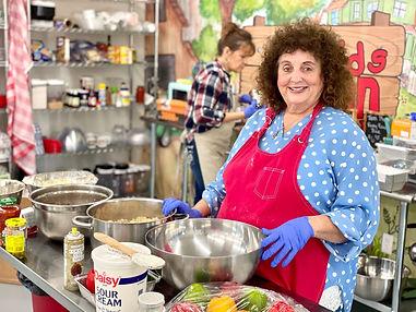 Dianne in kitchen DIANNE'S RANCH DINER