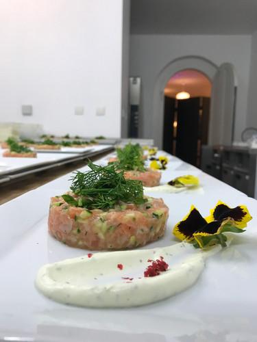Tartare au deux saumons et courgette