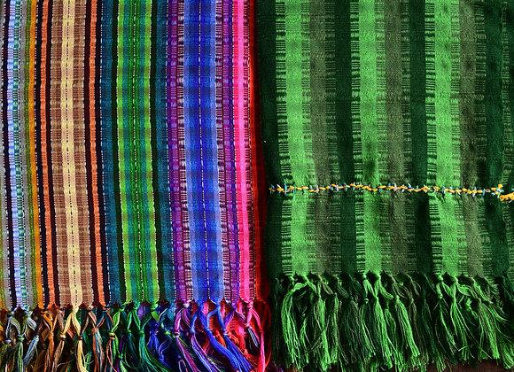 Multicolored/Green Striped Scarf