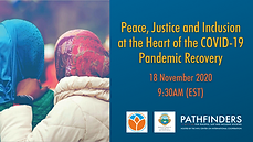 Peace, justice and inclusion at the heart of response, recovery and reset