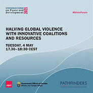 Halving Global Violence with Innovative Coalitions and Resources