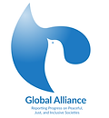Global Alliance Reporting Progress on Peacful, Just, and Inclusive Societies Logo, SDG16+, SDG16 Plus