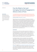 From the Global to the Local: Leveraging International Engagement to Advance Justice at Home