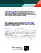 Fact Sheet: Access to Justice Offices Leading on Justice in OGP
