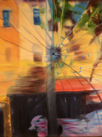 """Broken But Beautiful Series, """"Cracked View from The Beat"""""""