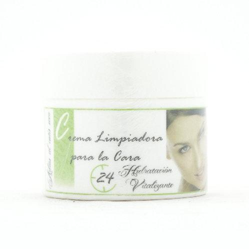 Crema limpiadora de cara 24