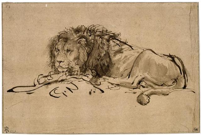 Lion au repos (Small)