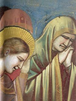 Giotto,Lamentations sur le corps du christ