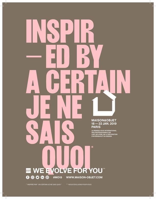 メゾン・エ・オブジェ・パリ2019年1月展開催及び事前登録のご案内