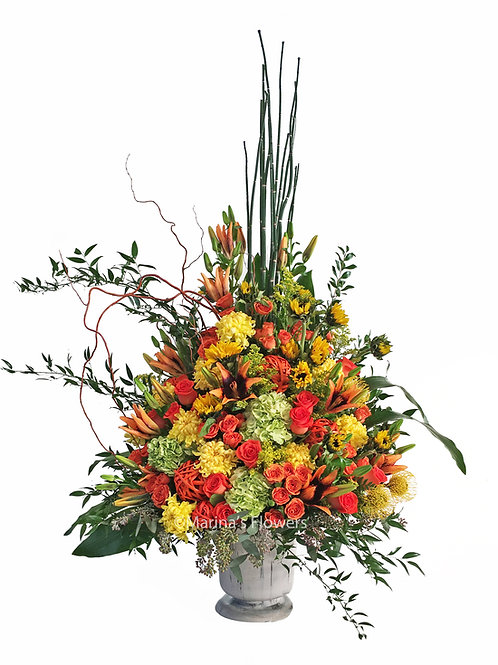 Yellows and Oranges Large Arrangement