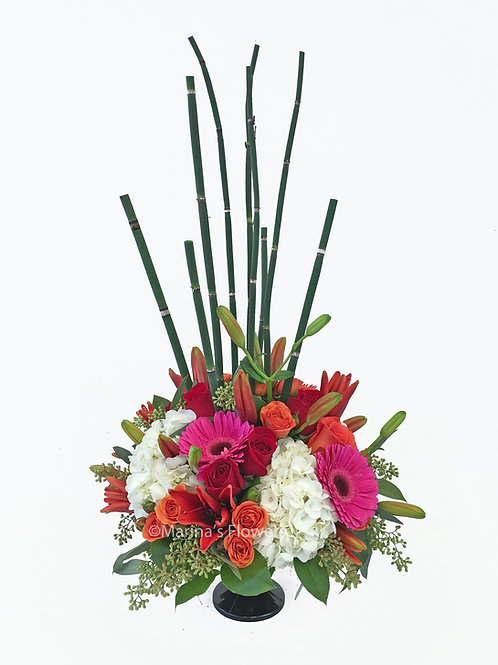 Table Centerpiece with Horsetail Fern