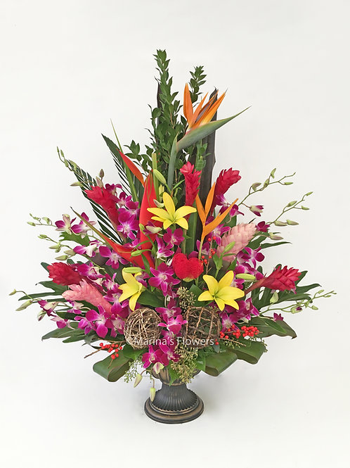 Colorful Tropical Arrangement